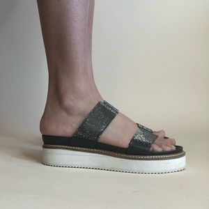 Free People Shoes - Free People Gray Sparkle Platform Shoes